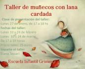 TALLER DE MUÑECOS CON LANA CARDADA