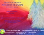 CARTEL DEL MERCADILLO DE NAVIDAD 2014 QUE SE CELEBRA EN LA ESCUELA INFANTIL GRIMM DE PEDAGOGIA WALDORF EN GUADARRAMA