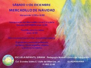 MERCADILLO DE NAVIDAD EN LA ESCUELA INFANTIL GRIMM DE PEDAGOGIA WALDORF EN LA SIERRA DE GUADARRAMA MADRID